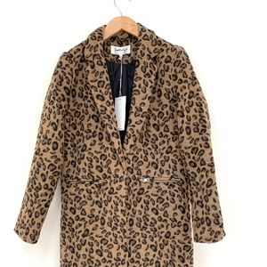 Kendal & Kylie I Leopard Print Trench Coat M NWT